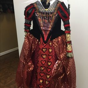 Disney Red Queen costume Chasing Fireflies, size 6